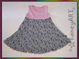 """Kleid Jersey """"Glitzer Eifelturm Rosa-Grau"""""""