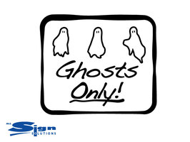 Ghosts Only! [set of 2] (medium)
