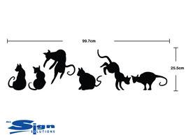 Set of Six Cats