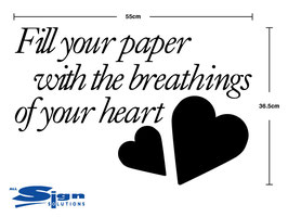 Fill your paper with breathing of your heart (large)