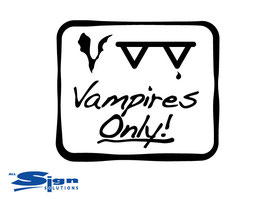 Vampires Only! [set of 2] (medium)