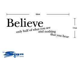 Believe only half of what you see and nothing that you hear (small)