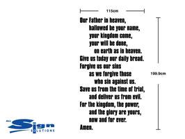 Modern Lord's Prayer (extra large)