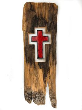 Kreuz Glas und Holz
