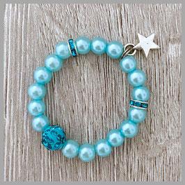 Neugeborenen-Perlenarmband mint (Nr. 03)