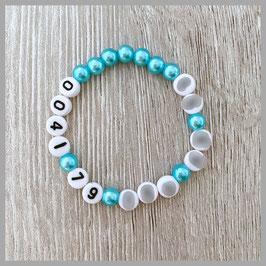 SOS-Armband mit Perlen (Art. 130)