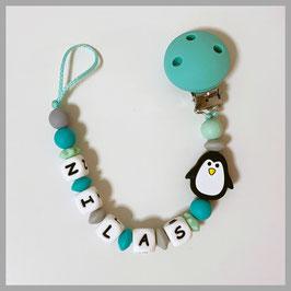 Silikonnuggiketten mit Pinguin