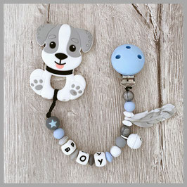 Beisskette Hund grau Boy (Nr. 41)