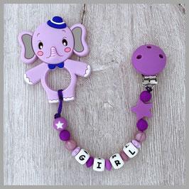 Beisskette Elefant violett Girl (Nr. 43)
