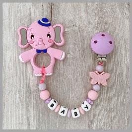 Beisskette Elefant pink Baby (Nr. 42)