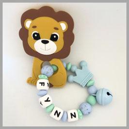 Beissring mit Löwe und Namen