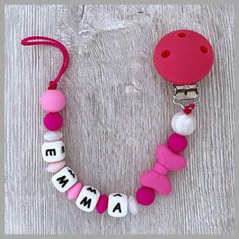 Silikonnuggikette pink Emma (Nr. 30)