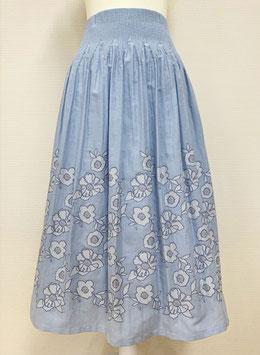 【新着】商品番号IS-9851-1W リバーシブルスカート(ブルー系)