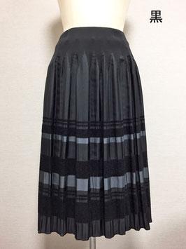 商品番号IS-9511-3W モール入りボーダースカート(黒)