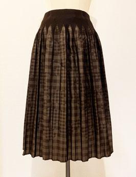 【新着】商品番号IS-9764-6US ギンガムチェック柄スカート(ブラウン)