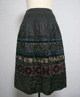 商品番号IS-7811-US モール入り花柄ボーダースカート