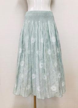 【新着】商品番号IS-9839-2W 花柄カットスカート(ミント)