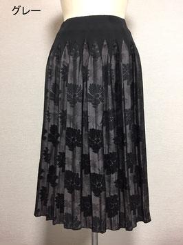 商品番号IS-9510-3W モール入り花柄スカート