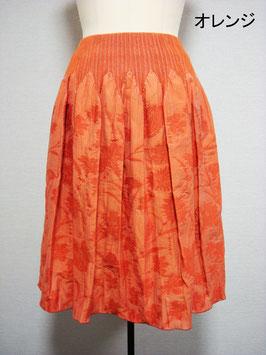 商品番号IS-8897-2W-2  花柄スカート(オレンジ)