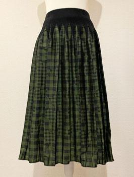 【新着】商品番号IS-9764-6US ギンガムチェック柄スカート(グリーン)