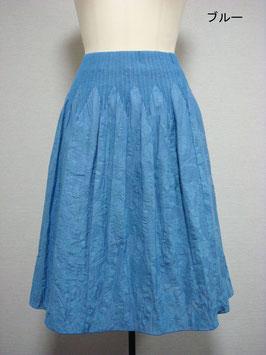 商品番号IS-8897-2W-2  花柄スカート(ブルー)
