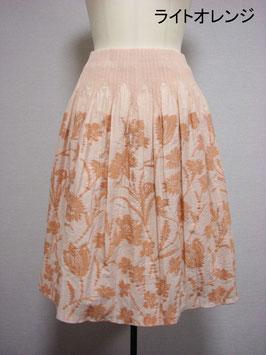 商品番号IS-8897-2W-2  花柄スカート(ライトオレンジ)