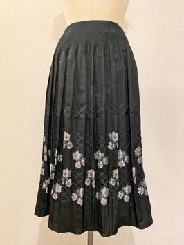 商品番号IS-9661-3W 籠目花柄スカート(黒)
