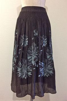 商品番号IS-5823-7W  抽象ダリア柄スカート