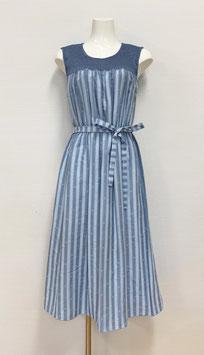 商品番号IS-9846-2W リラクシーワンピ・ノースリーブ(ブルー)