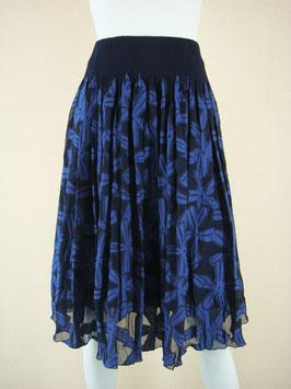 商品番号IS-8923-4W  大花柄カットスカート
