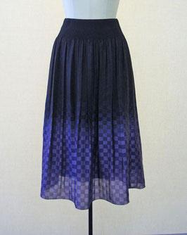 商品番号IS-6557  市松柄ボカシスカート