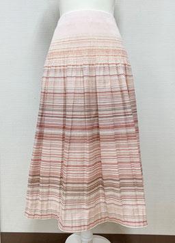 【新着】商品番号IS-9820-2W ボーダー柄スカート(ピンク系)
