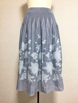 商品番号IS-7135 バラ柄スカート