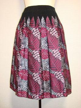 商品番号IS-9053-1W 2色出し葉柄スカート