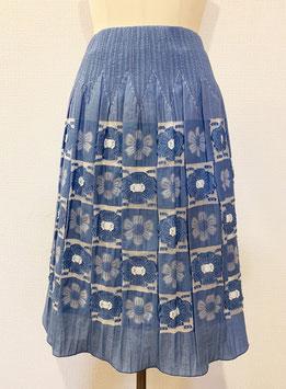 商品番号IS-9606-2W  市松花柄表カットスカート