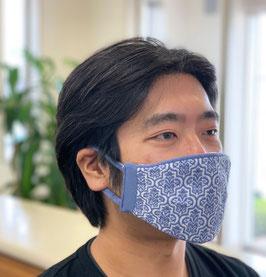 《立体織》夏の爽やかマスク HQ  ダマスク(大きめサイズ)