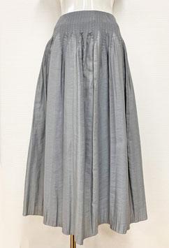 【新着】商品番号IS-9843-2W ストライプボカシカットスカート(ライトグレー系)