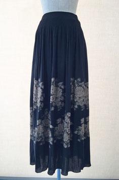 商品番号IS-4091-RA  アンティークバラ柄スカート