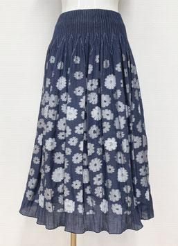 【新着】商品番号IS-9839-2W 花柄カットスカート(ネイビー)
