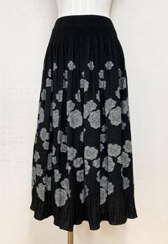 商品番号IS-9874-2W バラ柄スカート