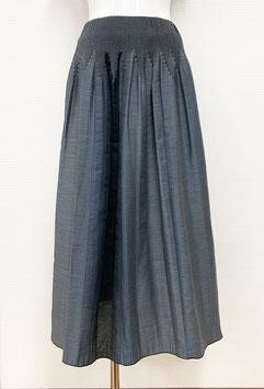 【新着】商品番号IS-9843-2W ストライプボカシカットスカート(グレー系)