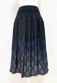 【新着】商品番号IS-9824-3W グラデーション市松ダイヤ柄スカート(グレー系)