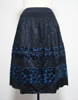 商品番号IS-7822-US モール入りアニマル花柄スカート