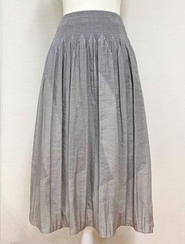 【新着】商品番号IS-9822-2W 幾何柄スカート(ライトグレー系)