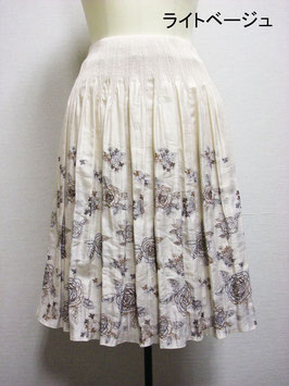 商品番号IS-9202-4W バラ柄スカート