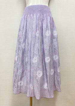 商品番号IS-9839-2W 花柄カットスカート(パープル)