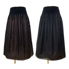 商品番号IS-9631-6US リバーシブルラメスカート(ラメブラウン&無地ブラック)
