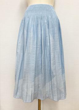 【新着】商品番号IS-9822-2W 幾何柄スカート(ブルー系)