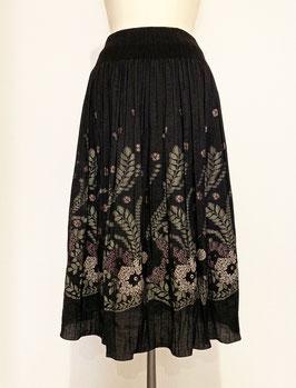 商品番号IS-5561  ラメ・ウール入り先染め小バラ柄スカート