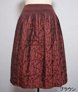 商品番号IS-9065-3W フクレ葉柄スカート